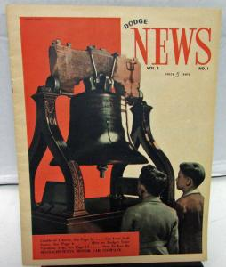 Original 1939 Dodge News Vol 5 No 1 Dealer Customer Magazine Police Fire Truck