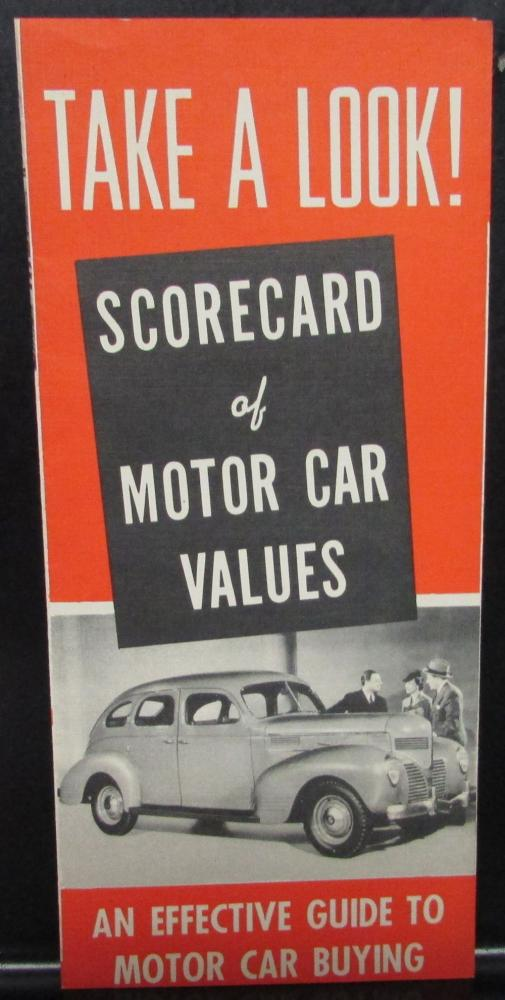 Original 1939 Dodge Dealer Pocket Brochure Scorecard Model Comparisons Features