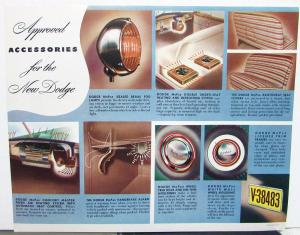 Original 1941 Dodge Dealer Accessories Brochure Leaflet Fog Lamps Heater