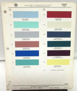 1955 Dodge Ditzler Color Paint Chip Selector Leaflet