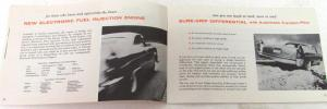 1958 Dodge Dealer Accessories Sales Brochure Swept-Wing Fuel Injection D-500