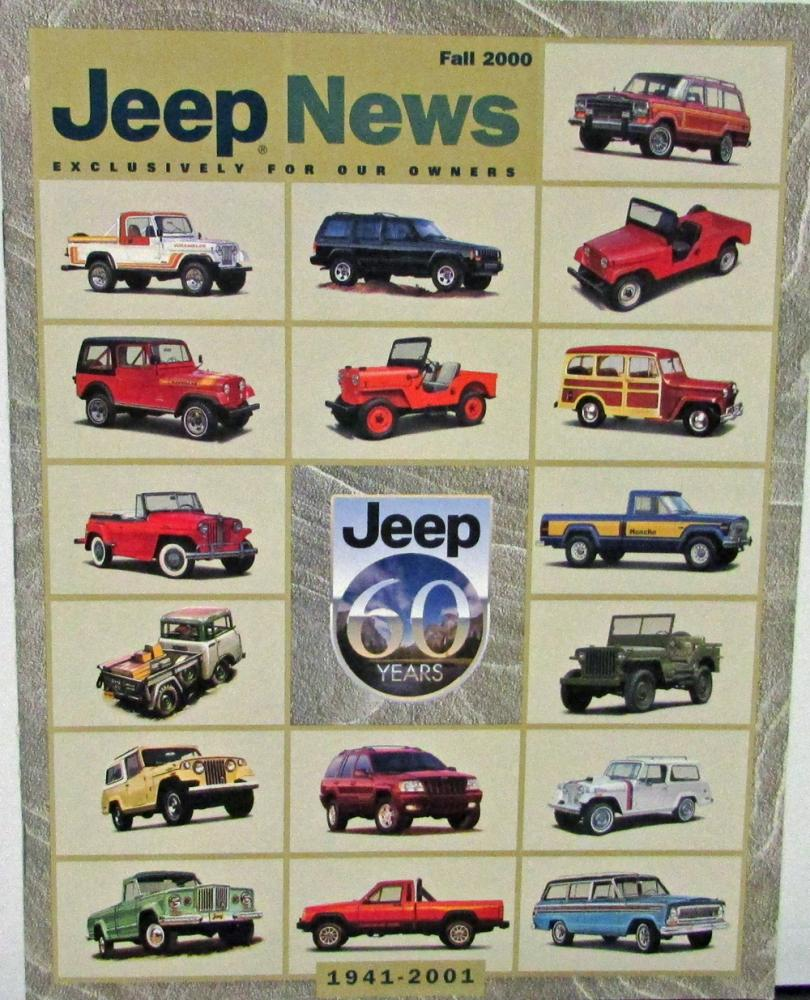Cars Through History Timeline: Jeep News Fall 2000 Issue 1941 Thru 2001 Picture Timeline