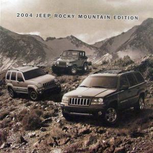 2004 jeep columbia edition grand cherokee liberty wrangler sales folder. Black Bedroom Furniture Sets. Home Design Ideas