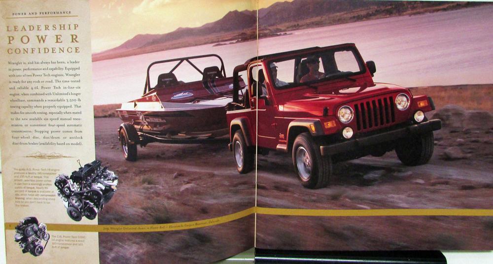 2005 jeep wrangler rubicon unlimited sport x se color sales brochure original. Black Bedroom Furniture Sets. Home Design Ideas