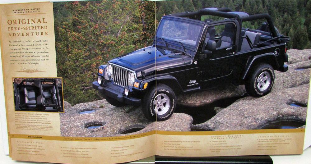 Jeep Wrangler Paint >> 2005 Jeep Wrangler Rubicon Unlimited Sport X SE Color Sales Brochure Original