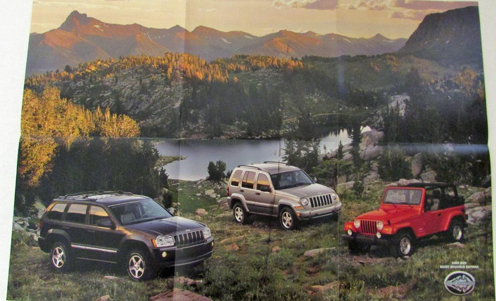2005 jeep cherokee liberty wrangler rocky mountain edition sales brochure folder. Black Bedroom Furniture Sets. Home Design Ideas