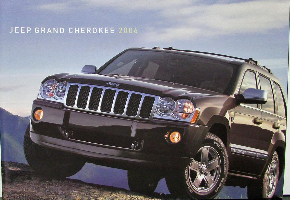 2006 jeep grand cherokee overland limited laredo srt8 original sales brochure. Black Bedroom Furniture Sets. Home Design Ideas