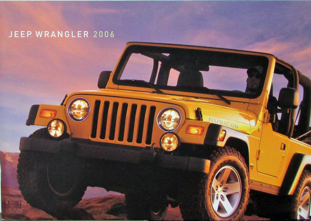 2006 jeep wrangler unlimited rubicon sport rhd x se original sales brochure. Black Bedroom Furniture Sets. Home Design Ideas