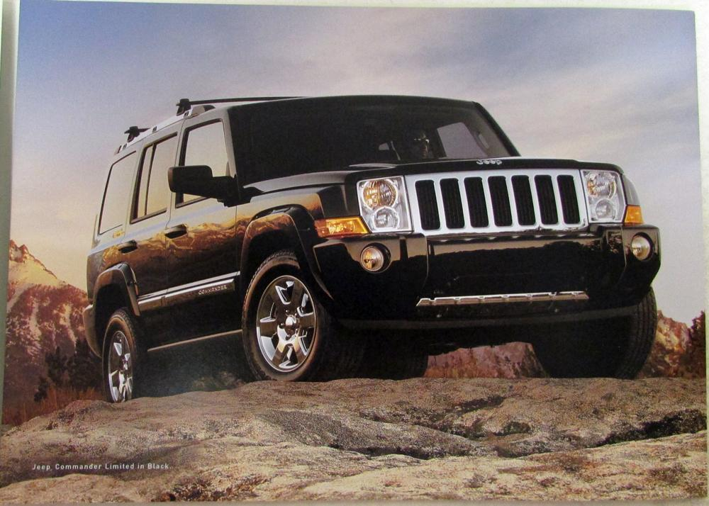 2006 jeep commander grand cherokee liberty wrangler original sales brochure. Black Bedroom Furniture Sets. Home Design Ideas