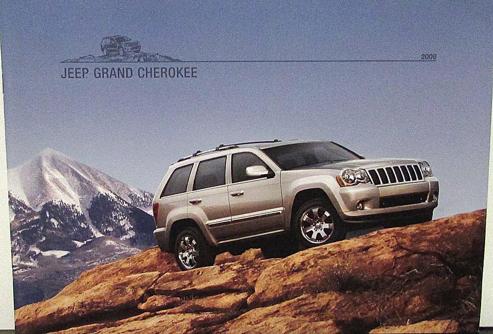 2008 jeep grand cherokee laredo limited overland srt8 original sales brochure. Black Bedroom Furniture Sets. Home Design Ideas