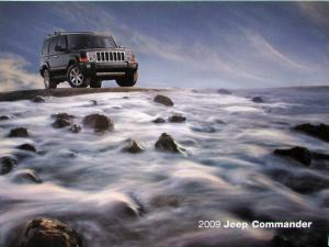 2009 Jeep Commander Sport Limited Overland Original Sales Brochure
