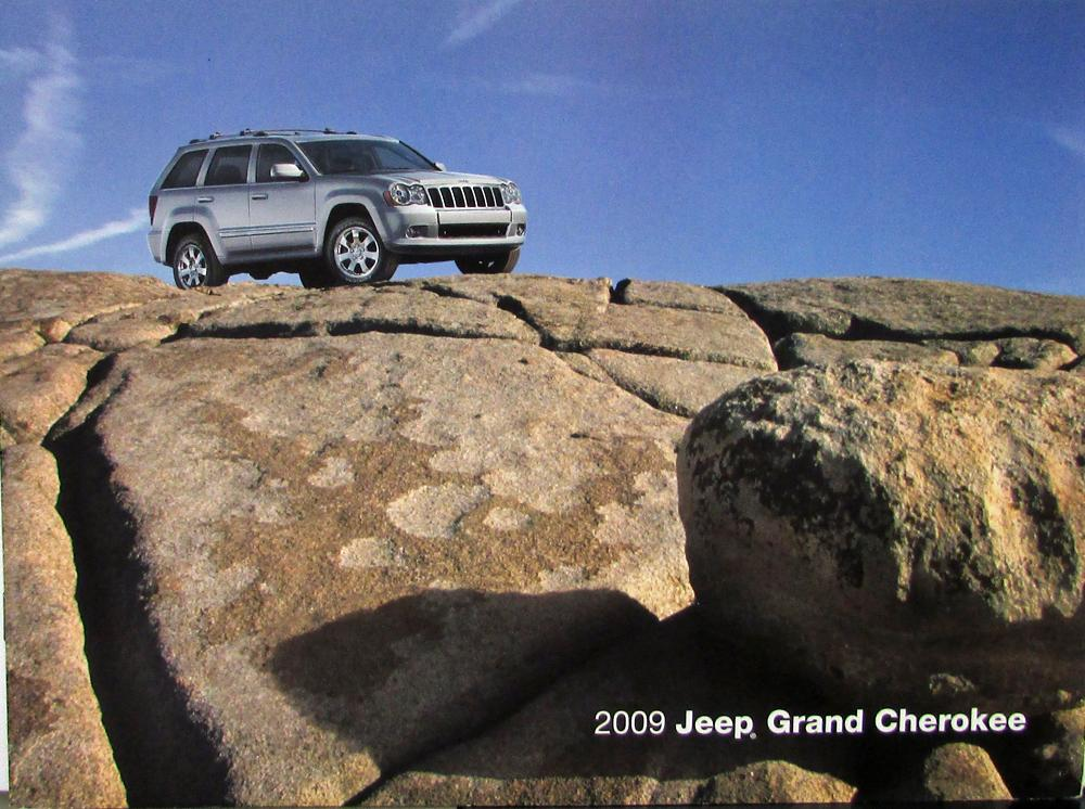2009 jeep grand cherokee laredo limited overland srt8 original sales brochure. Black Bedroom Furniture Sets. Home Design Ideas
