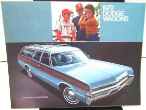 1972 Dodge Dealer Color Sales Brochure Folder Station Wagon Models