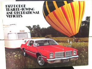 1977 Dodge Dealer Color Sales Brochure Trailer Towing And Recreational Vehicles