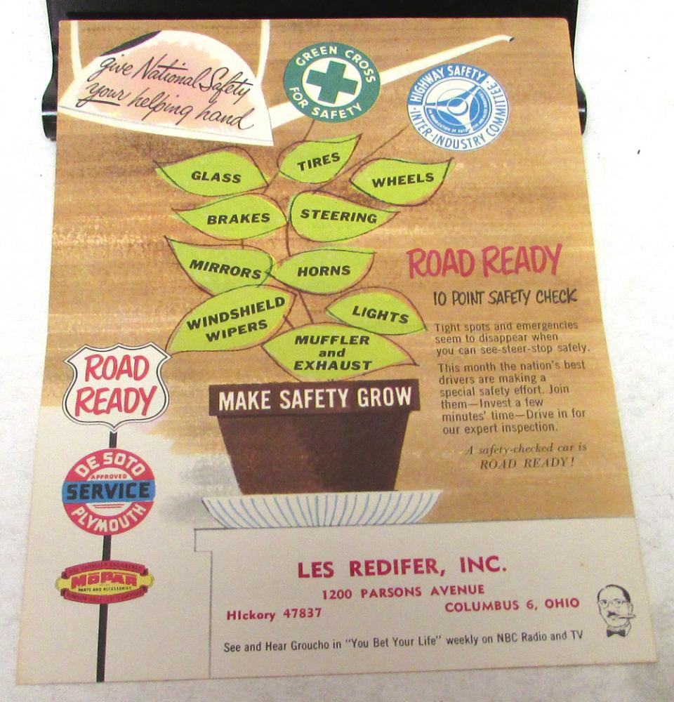 1956 desoto pace car - Original 1956 Desoto Convertible Dealer Service Mailer Indy 500 Pace Car Rare