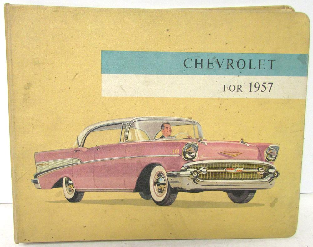 Original 1957 Chevy Dealer Album Bel Air Convertible Corvette Nomad Color Trim