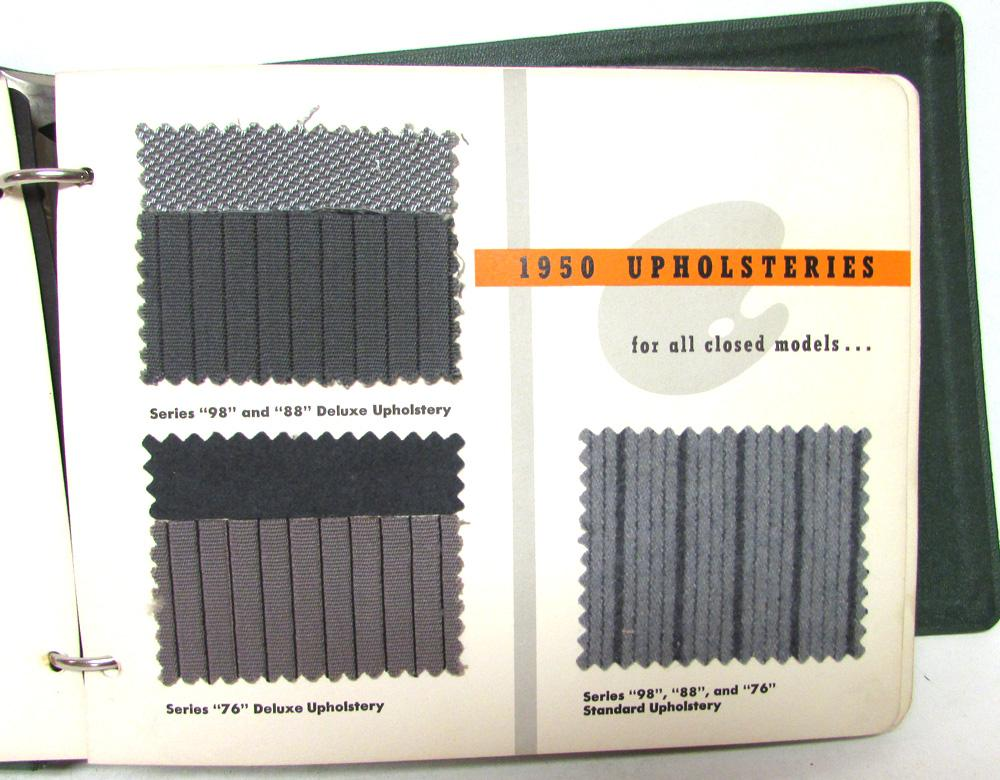 1950 Oldsmobile Dealer Color Upholstery Options Sample Album