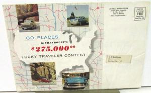 1957 Chevrolet Test Drive & Lucky Traveler Contest Sales Folder Mailer Orig