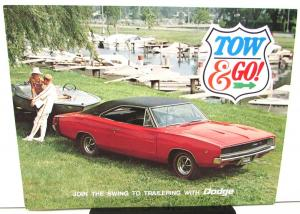 NOS 1968 Dodge Dealer Towing Trailering Brochure Charger Polara Coronet Dart Van