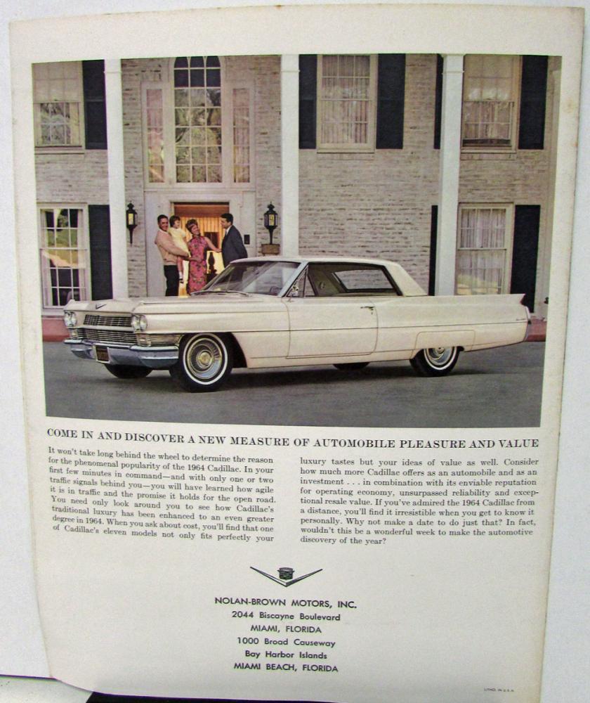 Cadillac Dealer Sales Mailer Brochure Pleasure And Value Comfort - Cadillac dealer miami