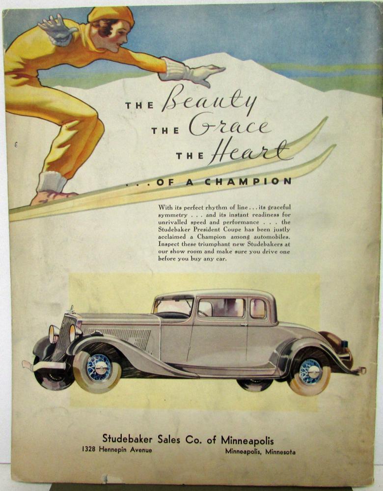 1933 Studebaker Wheel Magazine 1933 Auto Show Issue Orig Chicago ...