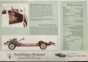 1958 Studebaker Champion 2 Door Sedan Color Data Sheet Original