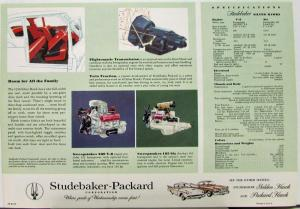 1958 Studebaker Silver Hawk Color Data Sheet Original