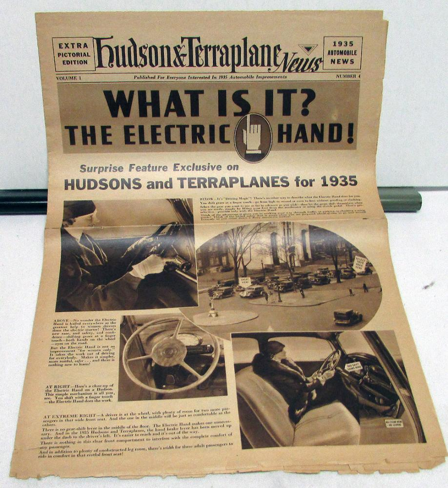 1935  Hudson Terraplane News Vol 1 No 4 Year Preview Issue Original FRAGILE