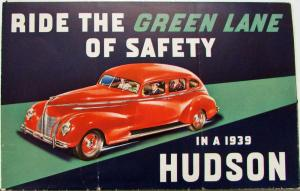 1939 Hudson Six One Twelve Country Club Series Six & Eight Sales Folder Original