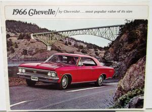 1966 Chevrolet Chevelle 300 Super Sport Malibu Wagons Color Sales Brochure Orig