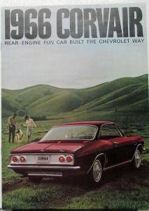 1966 Chevrolet Corvair Corsa Monza 500 Color Sales Brochure Rev 1 Original