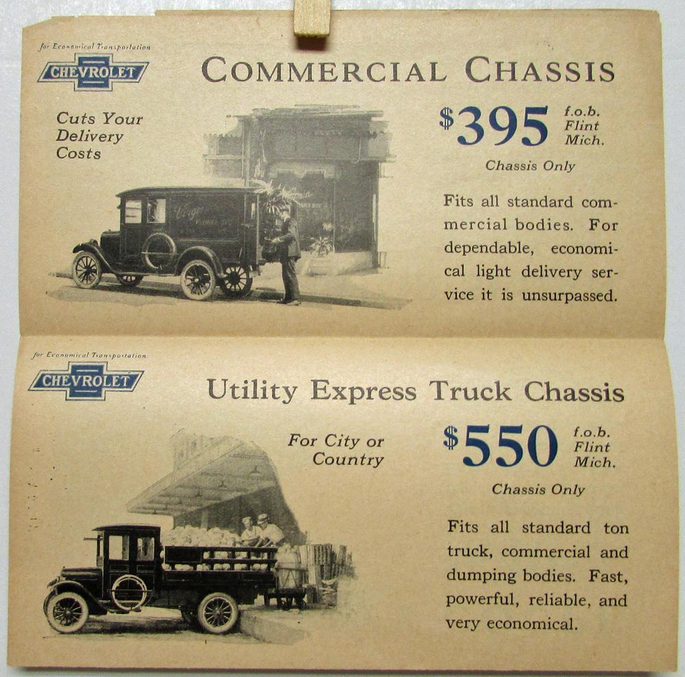 1924 chevrolet sales folder superior utility coupe truck commercial original
