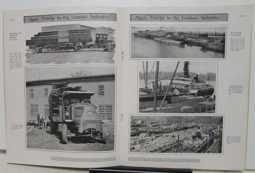 1930 mack truck logging and lumber industry sales history catalog