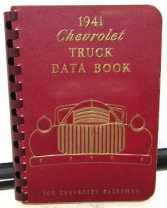 1941 Chevrolet Truck Dealer Data Facts Book Pickup Panel Stake HD Bus COE