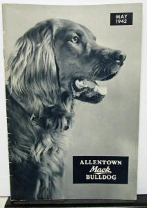 1942 Mack Truck Allentown Bulldog Employee Magazine May