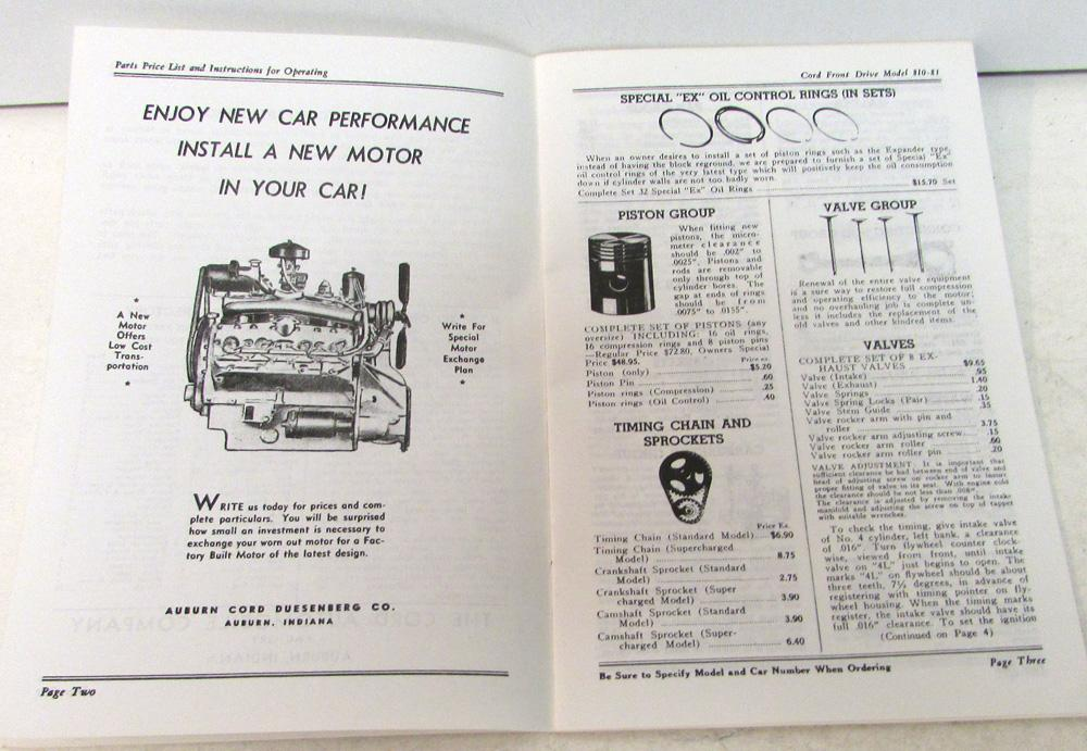 patch cord wiring diagram 1937 cord wiring diagram 1936 1937 cord owners instruction manual & parts price ... #12