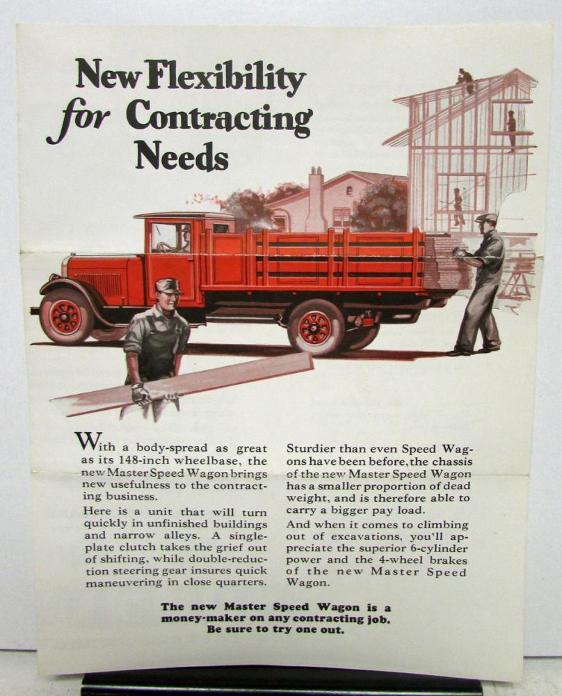 1927 1928 REO Speed Wagon Model Master Sales Brochure