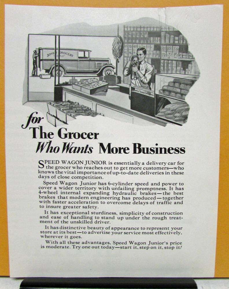 1928 REO Speed Wagon Model Junior Sales Brochure