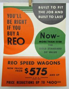 1932 REO Speed Wagon Poster Mailer The Longest Lived Trucks Built