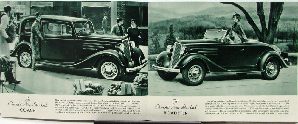 1935 Chevrolet Standard Six Roadster Phaeton Coach Coupe