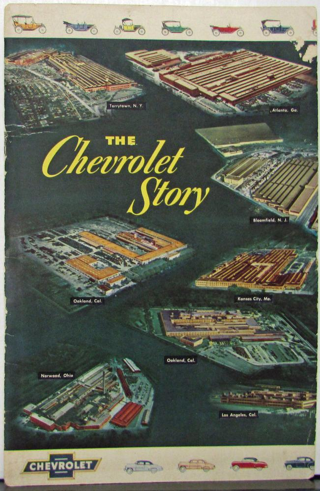 1952 Chevrolet Story From 1912 To 1952 Promotional Sales Brochure Original