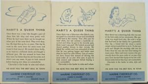 1950s ? Chevrolet Set of 3 Postcards Habits A Queer Thing Original