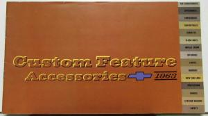 1963 Chevrolet Custom Feature Accessories Color Sales Brochure Original