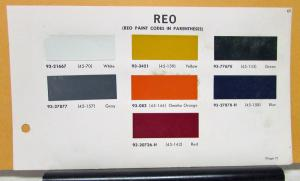 1965 REO Truck Paint Chips