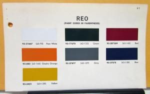 1967 REO Truck Paint Chips