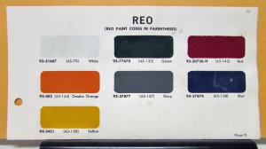 1966 REO Truck Paint Chips