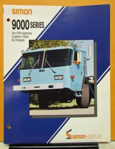 1991 Simon Truck 9000 Series Model Sales Brochure On Off Highway
