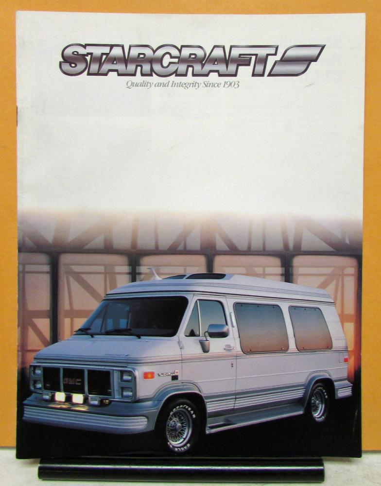 1988 Starcraft GMC Van Conversions Models GT XR LX SL Sales Brochure