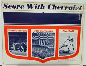 1965 Score With Chevrolet World Series Elections Football Sales Brochure