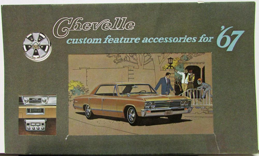 1967 CHEVY CUSTOM FEATURE ACCESSORIES  BROCHURE